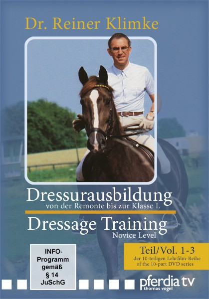 DVD Dr. Reiner Klimke Dressage Training 1: vols 1 to 3 From Novice to Elementary Level from trot-online