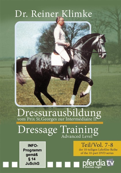 DVD Dr. Reiner Klimke Dressage Training 3: vols 7 & 9 From Prix St. Georges to Intermediaire II from trot-online