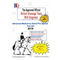 British Dressage 2018 Advanced Medium to FEI Grand Prix Special Tests Set with Diagrams
