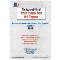 British Dressage 2019 Advanced Medium to FEI Grand Prix Special Tests Set with Diagrams