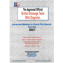 British Dressage 2021 Advanced Medium to FEI Grand Prix Special Test Set with Diagrams