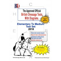 British Dressage 2018 Elementary and Medium Tests Set with Diagrams from Trot-Online