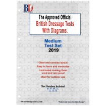 2019 British Dressage Medium Test Set with Diagrams
