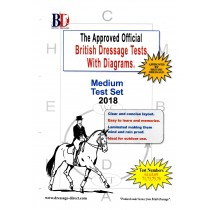 2018 British Dressage Medium Test Set with Diagrams from Trot-Online