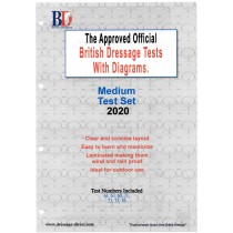 2020 British Dressage Medium Test Set with Diagrams