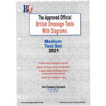 2021 British Dressage Medium Test Set with Diagrams