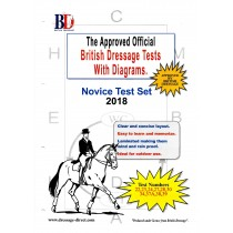 British Dressage 2018 Novice Test Set with Diagrams