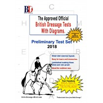 British Dressage 2018 Intro and Preliminary Test Set with Diagrams