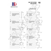 British Dressage Medium 75 (2002) Test Sheet with Diagrams