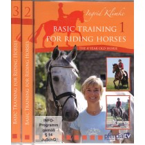 Ingrid Klimke 3 Volume DVD Set Basic Training for Riding Horses from Trot-Online
