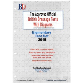 British Dressage 2019 Elementary Test Set with Diagrams