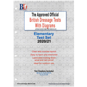 British Dressage 2021 Elementary Test Set with Diagrams