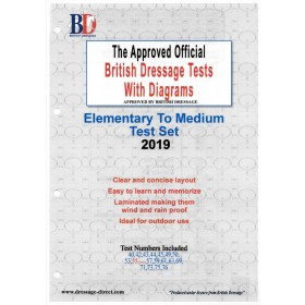 British Dressage 2019 Elementary and Medium Test Set with Diagrams