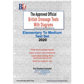 British Dressage 2020 Elementary and Medium Test Set with Diagrams