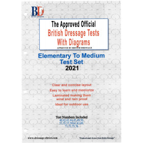 British Dressage 2021 Elementary and Medium Test Set with Diagrams
