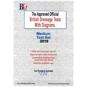 British Dressage 2019 Medium Test Set with Diagrams