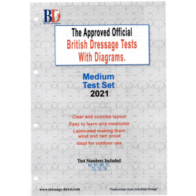 British Dressage 2021 Medium Test Set with Diagrams