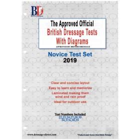 British Dressage 2019 Novice Test Set with Diagrams