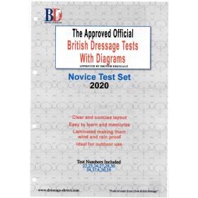 British Dressage 2020 Novice Test Set with Diagrams