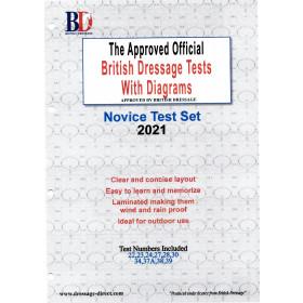 British Dressage 2021 Novice Test Set with Diagrams