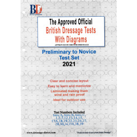 British Dressage 2021 Intro, Prelim and Novice test set with Diagrams