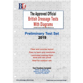 British Dressage 2019 Intro and Preliminary Test Set with Diagrams