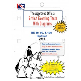 British Eventing 2018 BE 80, 90 and 100 Dressage Test Set with Diagrams