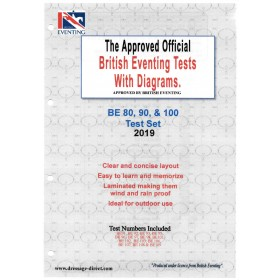 British Eventing 2019 BE 80, 90 and 100 Dressage Test Set with Diagrams