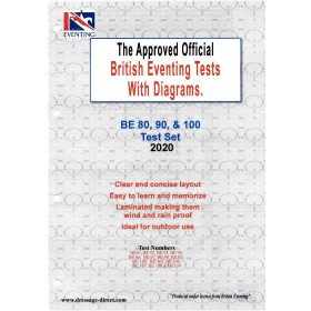 British Eventing 2020 BE 80, 90 and 100 Dressage Test Set with Diagrams