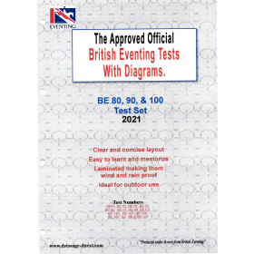 British Eventing 2021 BE 80, 90 and 100 Dressage Test Set with Diagrams
