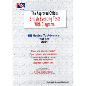 British Eventing BE 2021 Novice to Advanced Dressage Test Set with Diagrams