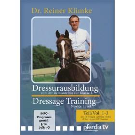 DVD Dressage Training 1: vols 1 to 3 From Novice to Elementary Level Dr. Reiner Klimke