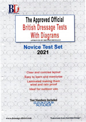 British Dressage 2021 Novice Test Set with Diagrams from Trot-Online