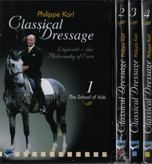 4 Volume DVD Set Classical Dressage by Philippe Karl